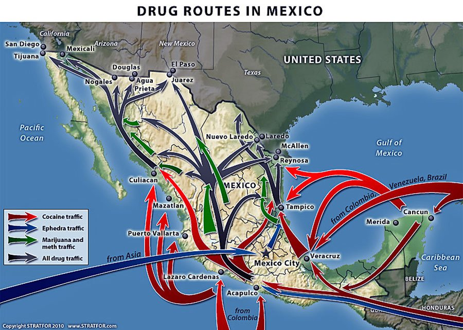 Despite Wars Between Cartels Most Shipments Make It Through Mexico To The Us Border